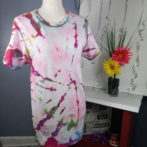 Tie Dye Multiple Color Tee Small Fruit Of The Loom